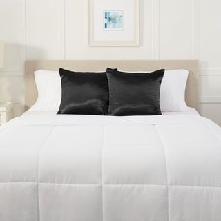 "Nestl Bedding Silky Satin Pillow Sham for Hair and Skin (26"" x 26"" - Black)"