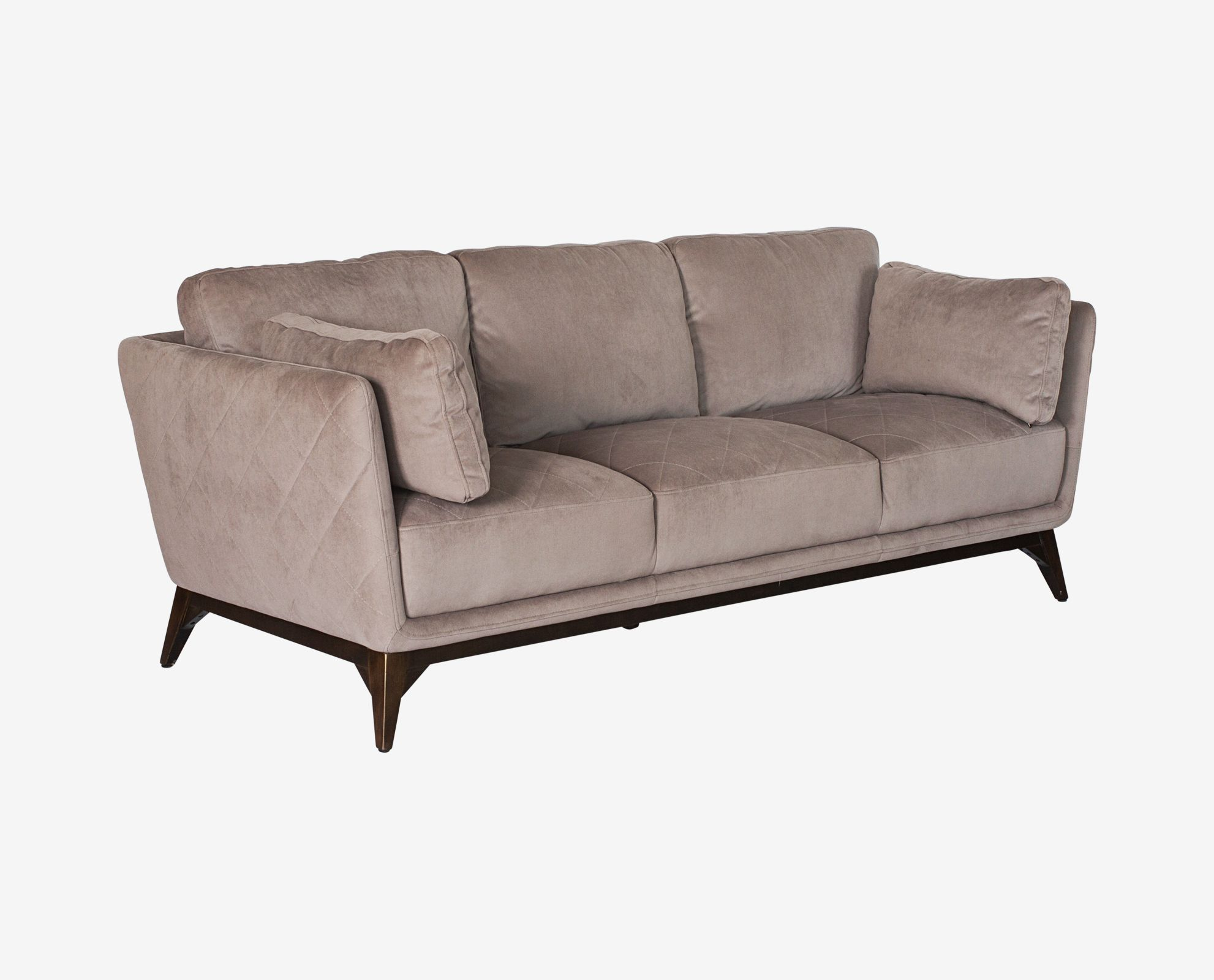 Modern Quilted Sofa Dania The Ferula Sofa Has A Welcoming Feel With Angled