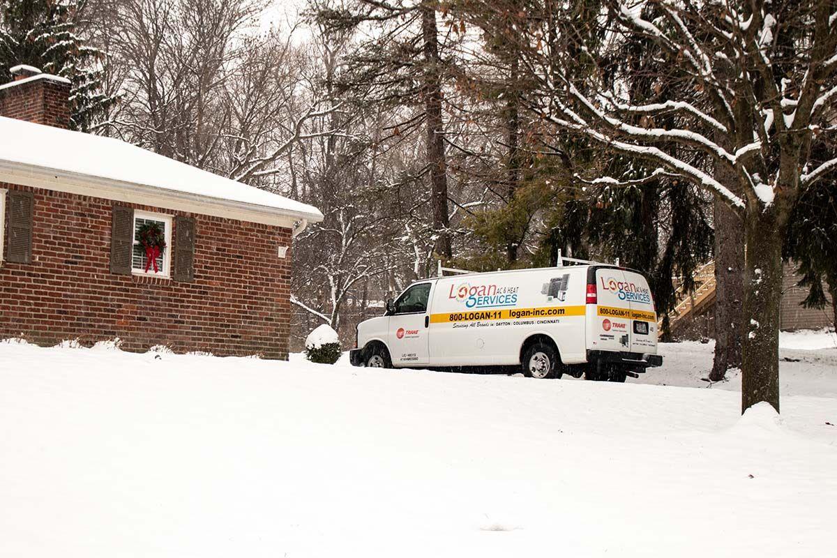 Dashing through the snow in a Logan van today, over the