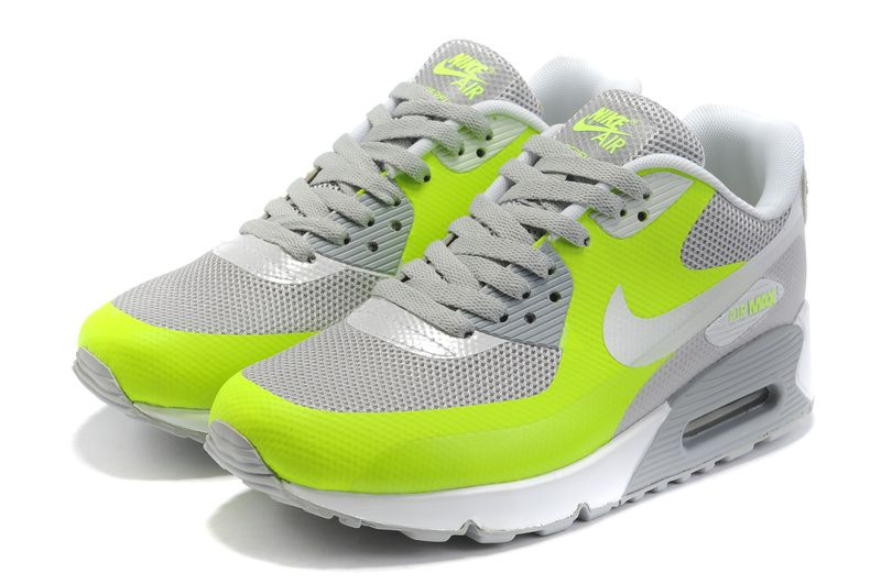 Nike Air Max 90 Hyperfuse Mens Grey Green White