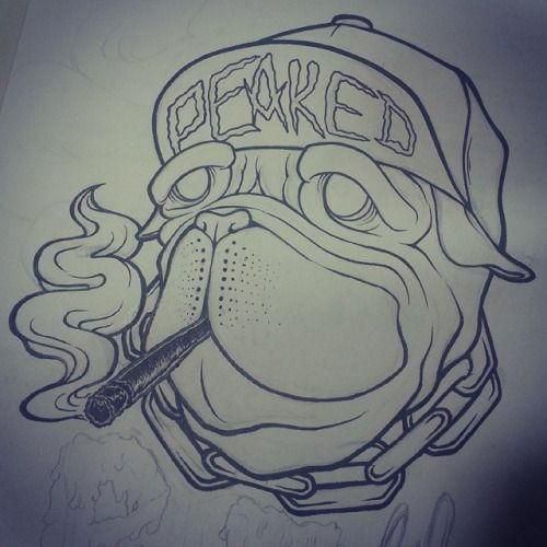 Blunt #joint #weed #snapback #tattoo #design #designer