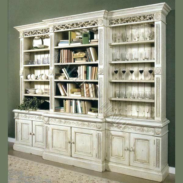 Decoration Country Reclaimed Library Cabinet Vitrine Within