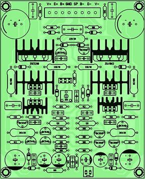 audio amplifier circuit diagram with layout 1999 toyota tacoma wiring pcb driver power yiroshi k board