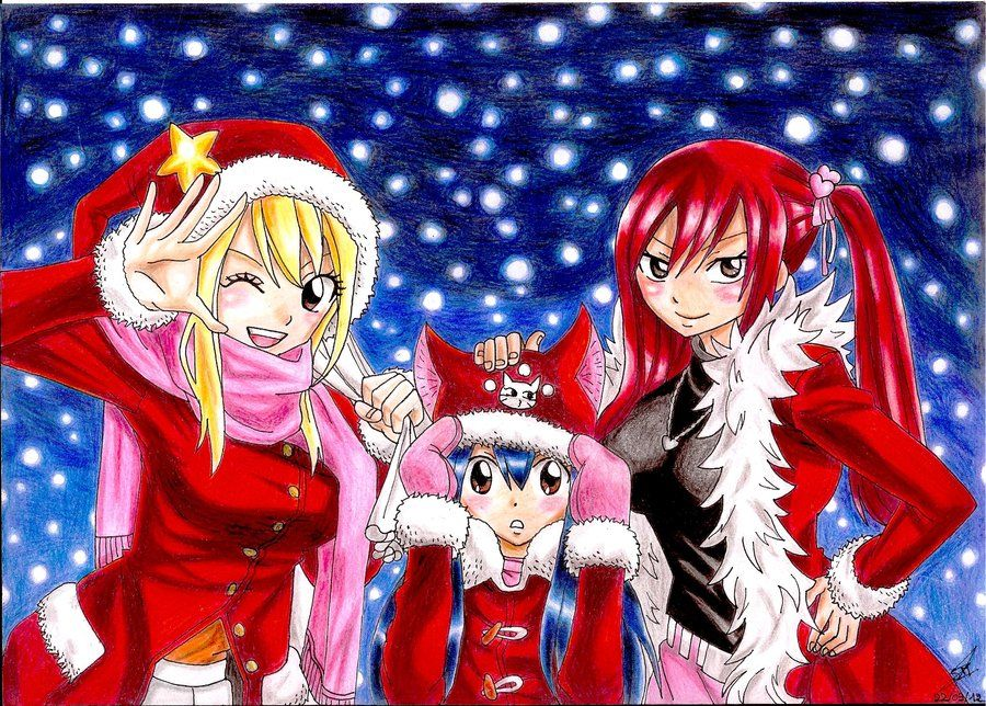 Fairy Tail Christmas by PrettyLittleWolf | Anime Xmas ...