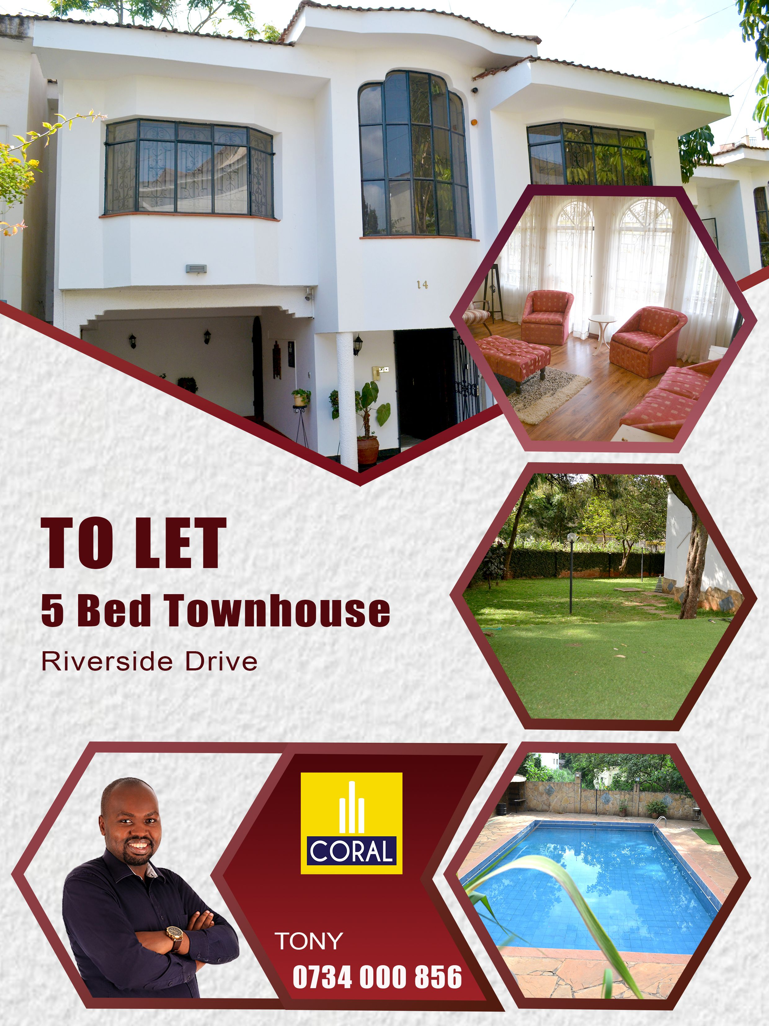 5 Bedroom Townhouse For Rent Off Riverside Drive Townhouse For Rent Townhouse Riverside Drive