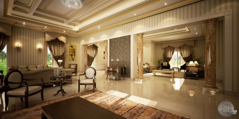 Design design llc private villa emirates hills dubai for Villa interior design dubai
