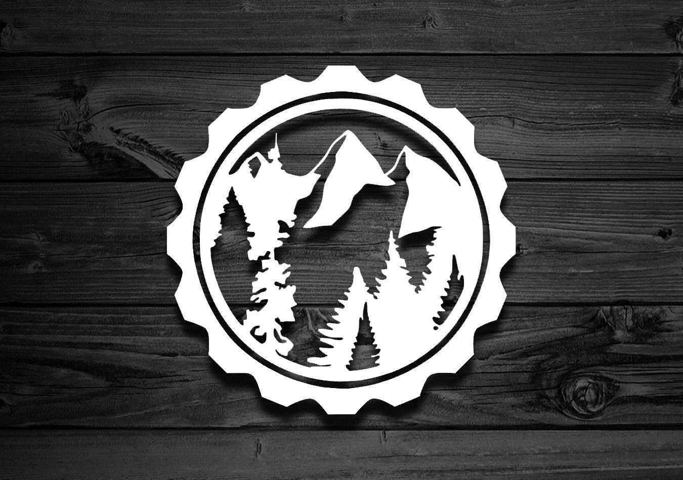 Mountain Vinyl Decal, Car Decal, Outdoor Decal, Explorer