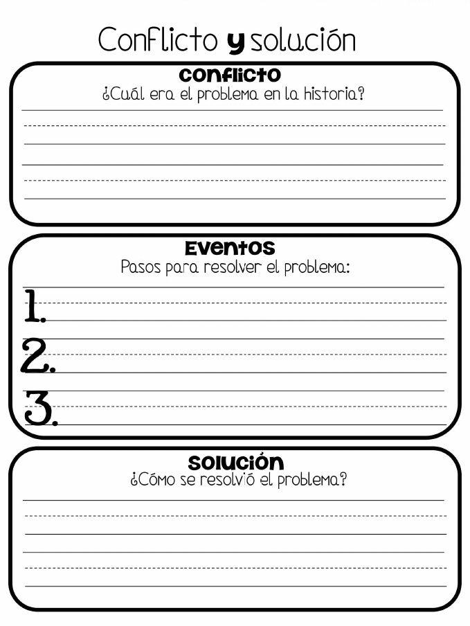 organizador conflicto eventos y solucion scribd spanish resources pinterest spanish. Black Bedroom Furniture Sets. Home Design Ideas