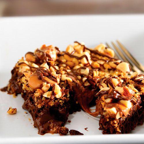Warm Nutty Caramel Brownies Recipe Desserts ️ In 2019