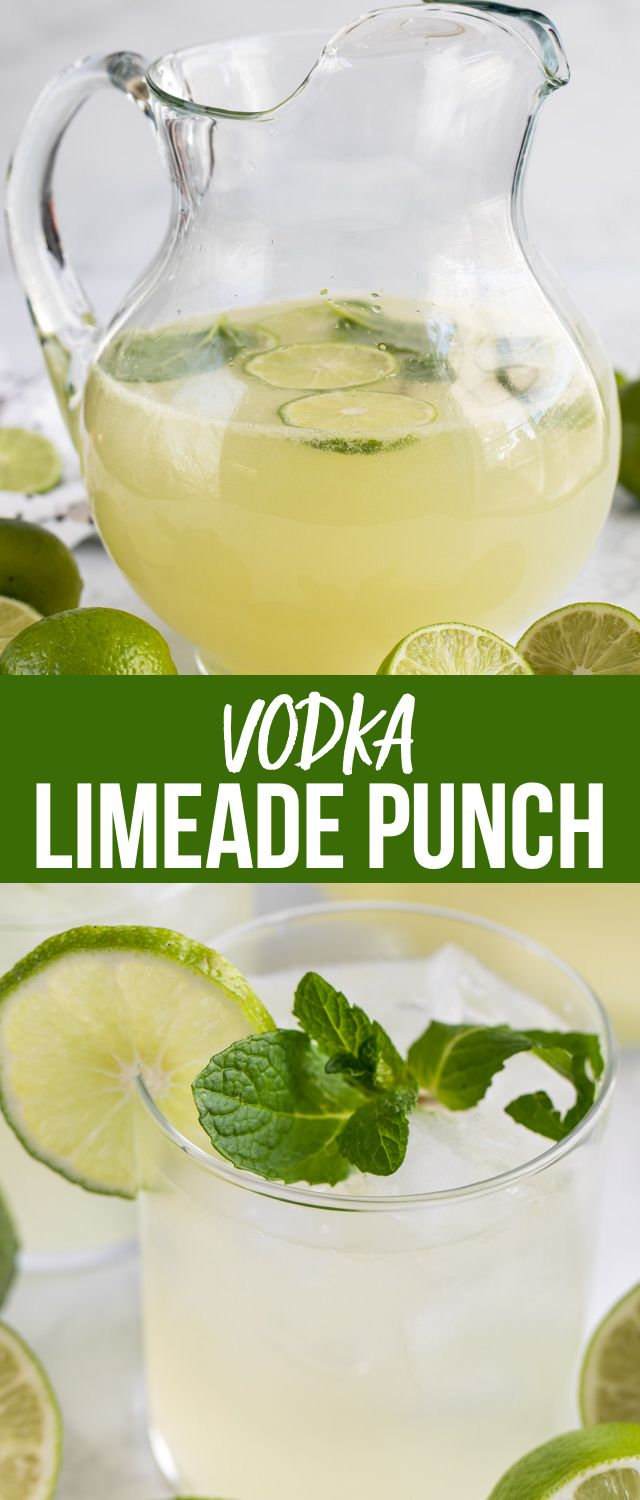 Vodka Limeade Punch is perfect for any party! It's an easy punch recipe made wit…