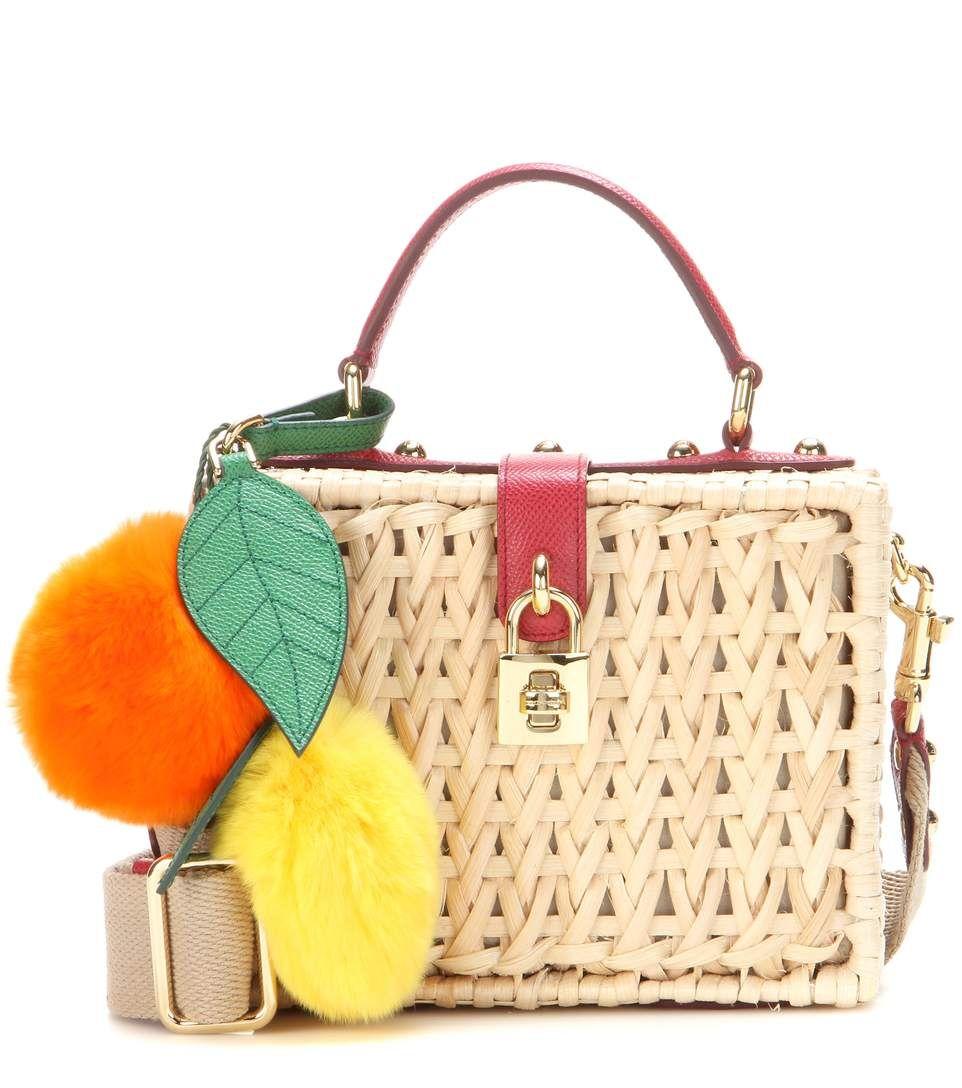 Pour Pas Cher Dolce & Gabbana Dolce & Gabbana Femme Fourre-tout En Paille Tressée Embelli Garni De Cuir Beige Taille Livraison Gratuite Footlocker Boutique En Ligne Réduction Abordable réal t063oV