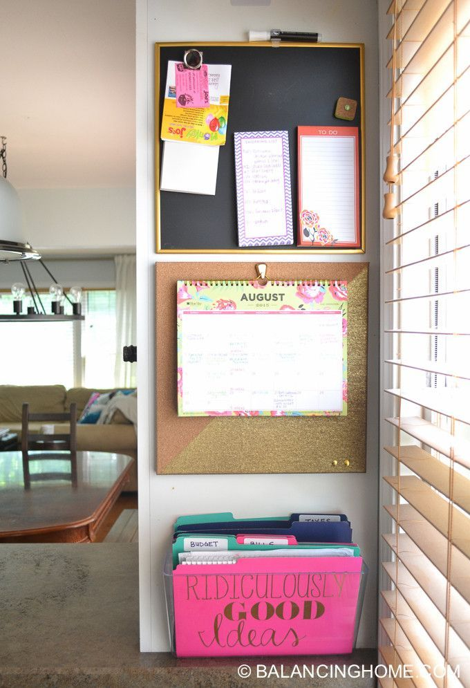 Simple Kitchen Command Center For Keeping Everything Organized.