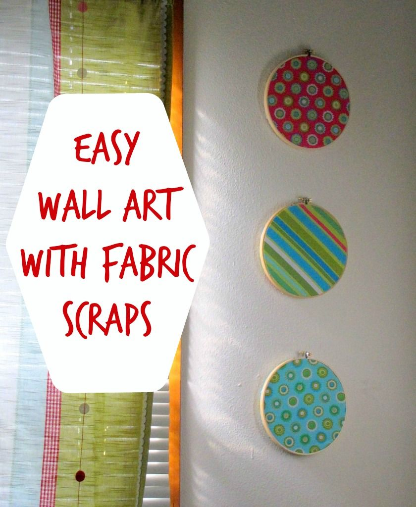 Easy, Inexpensive Wall Art With Fabric Scraps (Tutorial) | Kindred Spirit  Mommy