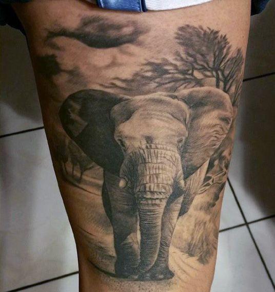 Tattoo Designs Bebe Bapu: 100 Elephant Tattoo Designs For Men - Think Big
