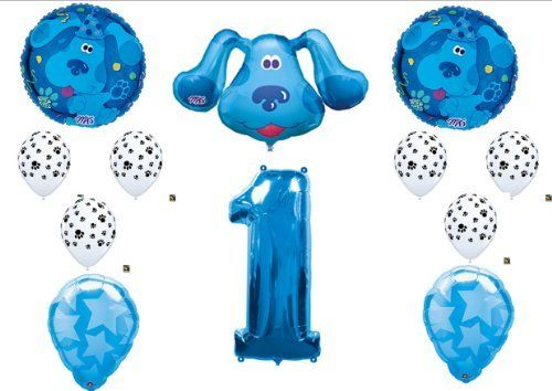 Blues Clues First 1st Birthday Party Balloons Decorations Supplies by Balloon Emporium, http://www.amazon.com/dp/B006074Q8O/ref=cm_sw_r_pi_dp_u2vUqb19FZBB0