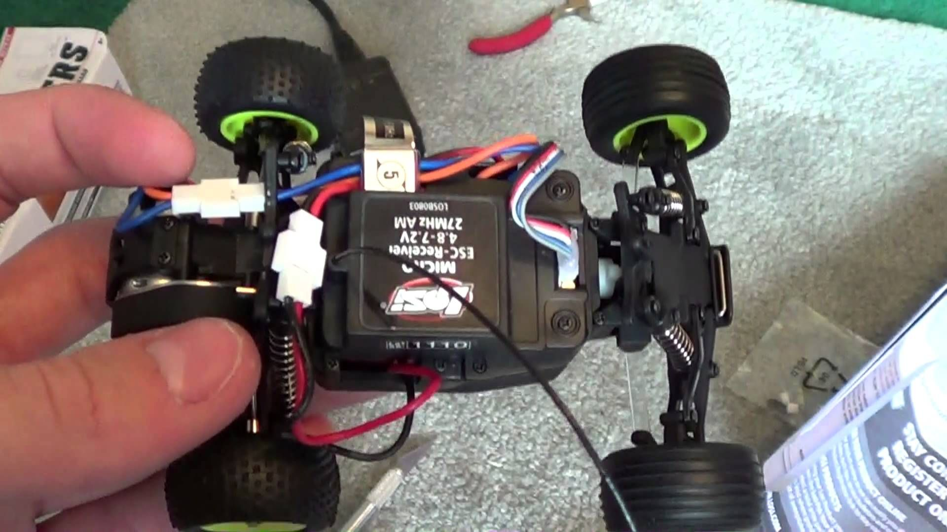 Losi Micro T Maiden Test Stock Setup
