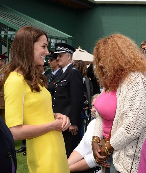 Duchess Catherine watches Williams sisters in semi-finals at Wimbledon