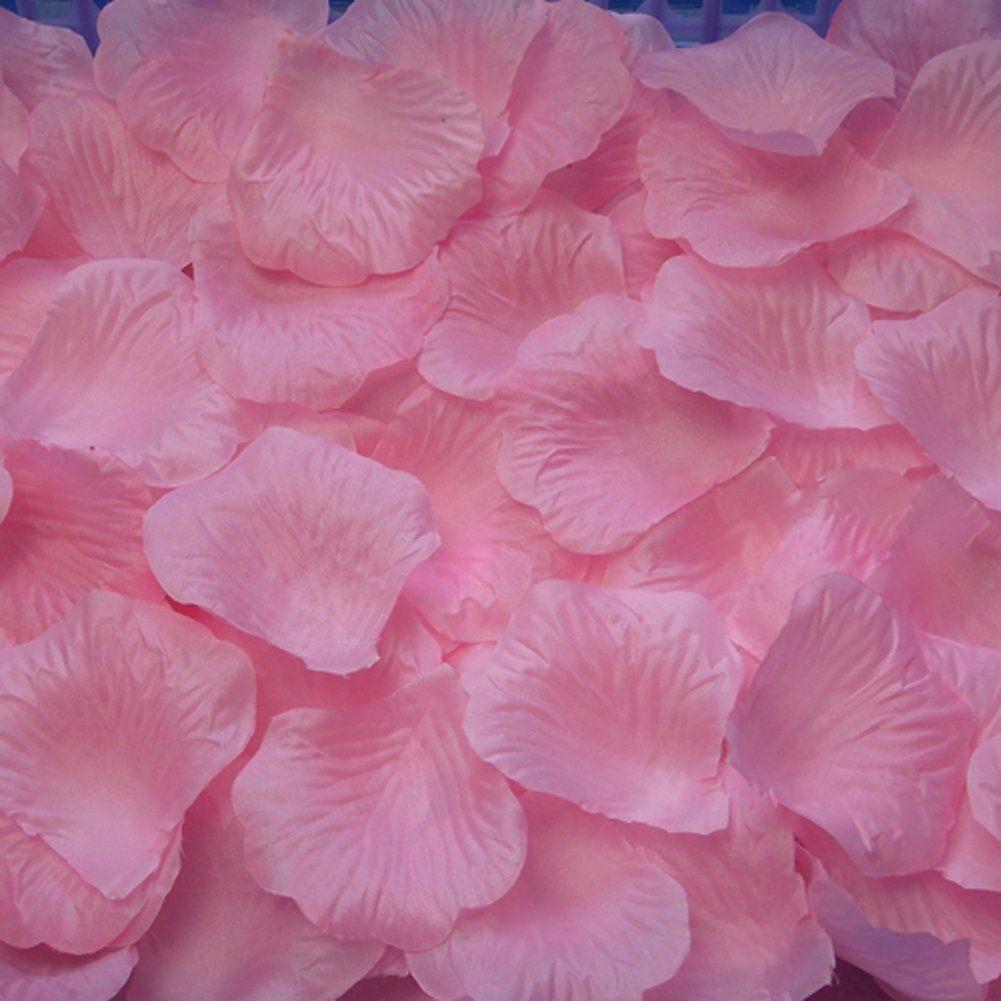 AutoM 1000 PCS Fabric Silk Flower Rose Petals Wedding Party Decoration Table Confetti