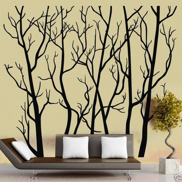 Graham and Brown 57218 Darcy Wallpaper, Pearl | Forest mural, Mural ...
