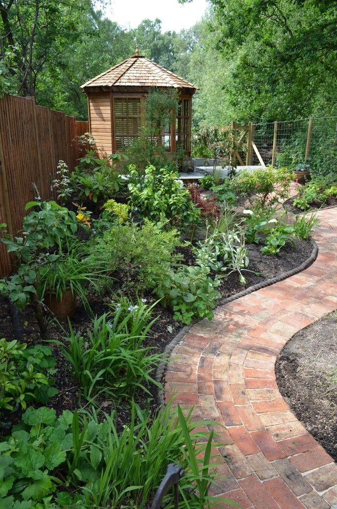 Garden edging ideas landscape traditional with paving bricks garden ...