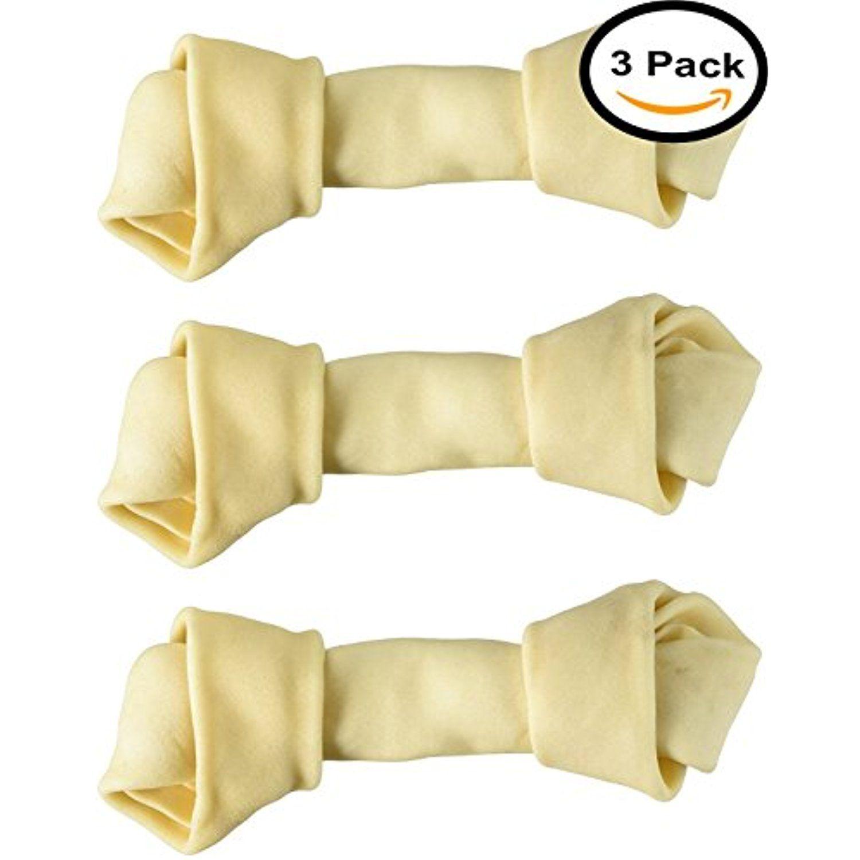 Dog Rawhide Bones Bulk Pack Of 3 Natural Rawhide Protein Treats