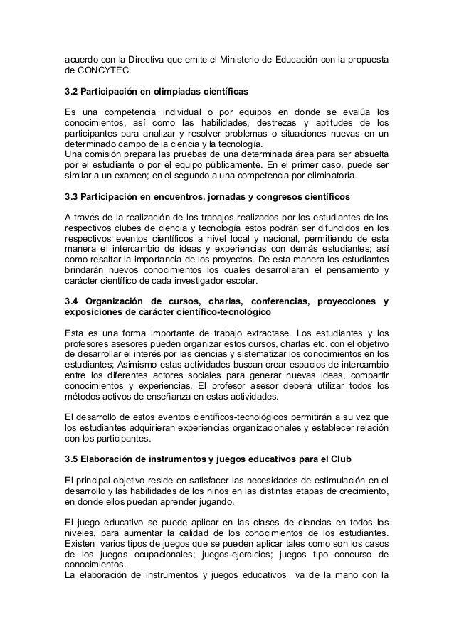MANUALES DE CLUBES DE CIENCIA Y TECNOLOGÍA (CONCITEC)