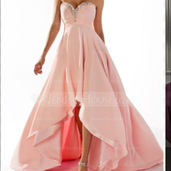 FINAL SALE LOWEST High Low light pink Prom dress!! : light pink high low dress - www.canuckmediamonitor.org