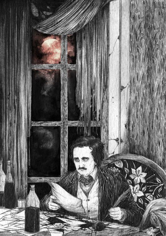 Edgar Allan Poe by Zakurokarasu.deviantart.com on @DeviantArt