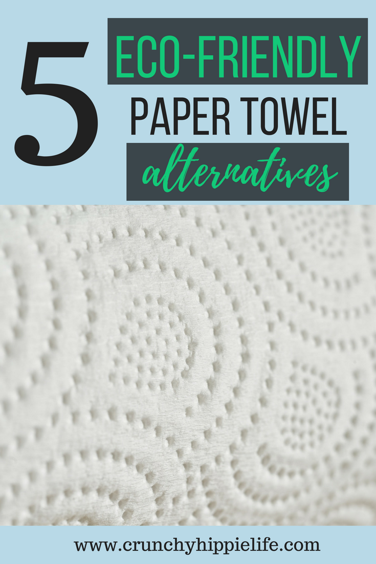 Ditch the paper towels and start using one of these eco-friendly alternatives! #ecofriendly #greenliving
