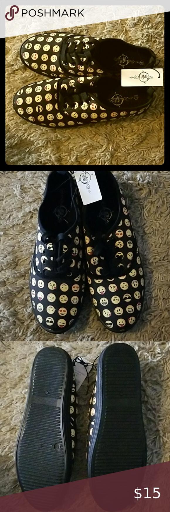 Emoji tennis sneakers. Soul Mates Shoes