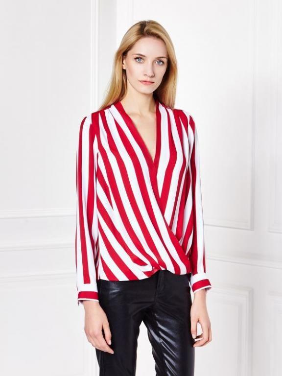 Mohito Koszula W Paski Raz Zalozona Idealny Stan M 5718090855 Oficjalne Archiwum Allegro Long Sleeve Blouse Striped Top Fashion