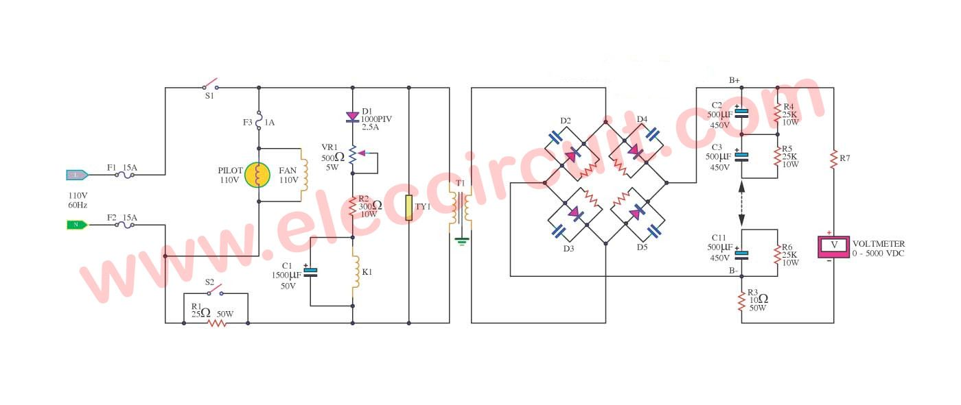 Pin on Power supply High Voltage Power Supply Schematic on
