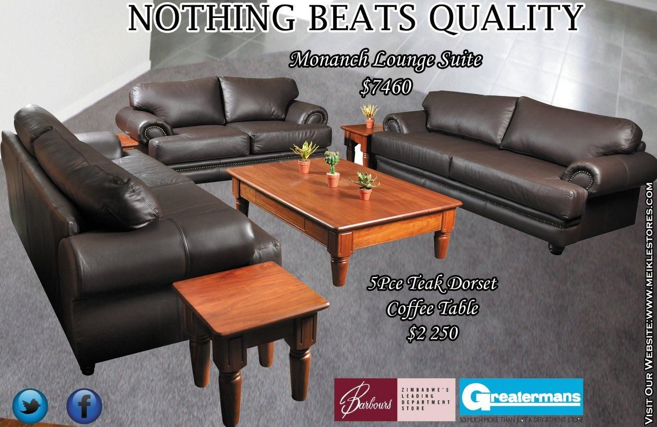 Buy Monanch Genuine Leather Lounge Suite Living Room Sofa Lounge Suites Lounge