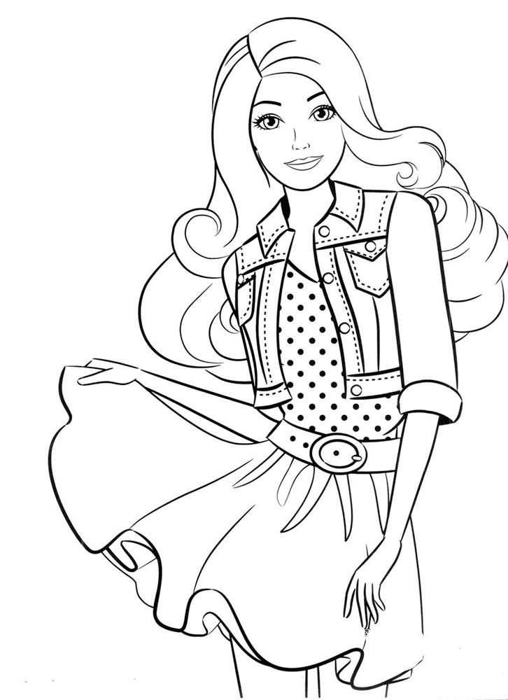 Распечатать Барби: раскраска для девочек → slotObzor.com в ...