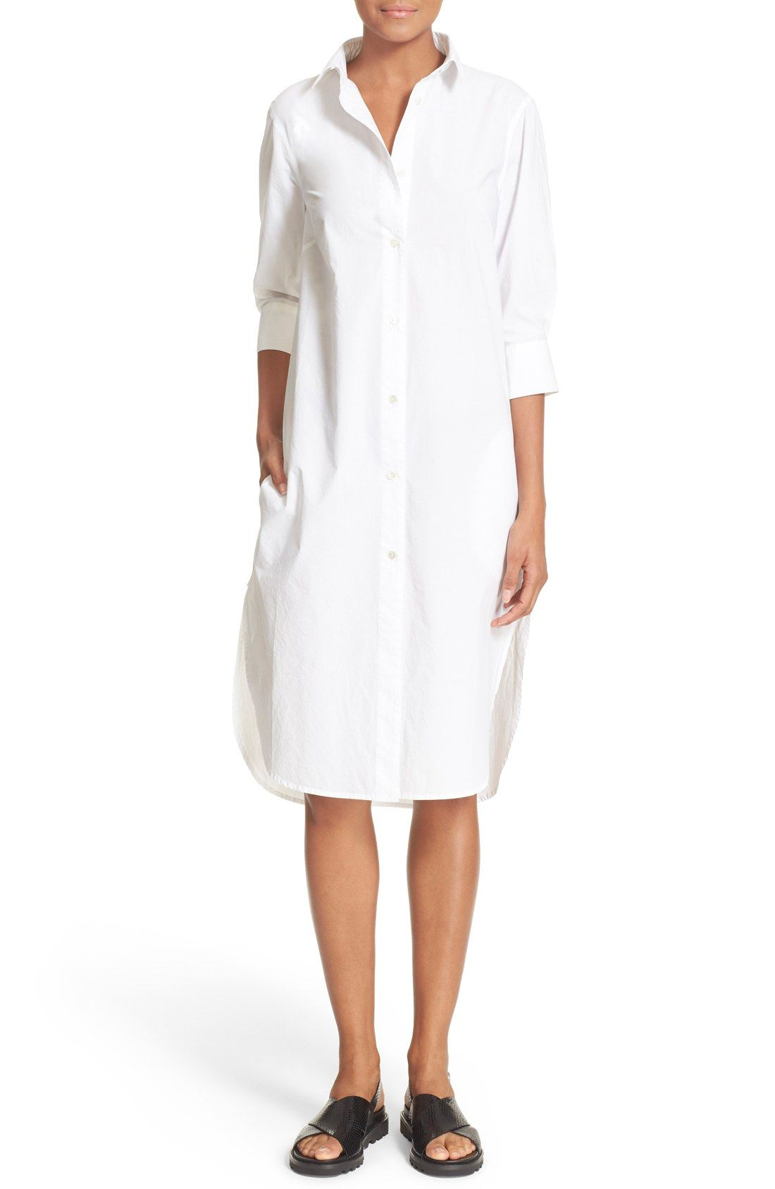 Frame Le Poplin Cotton Shirtdress Nordstrom Exclusive Ss16