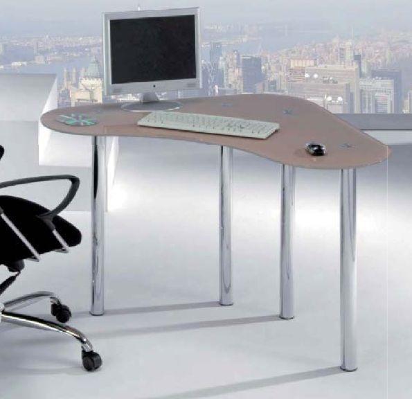 Modelo tibi mesa de estudio con tapa de cristal patas - Mesas estudio cristal ...