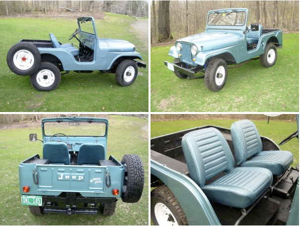 1967 Cj5 Factory With Colored Seats And Side Spare Jeep Cj5