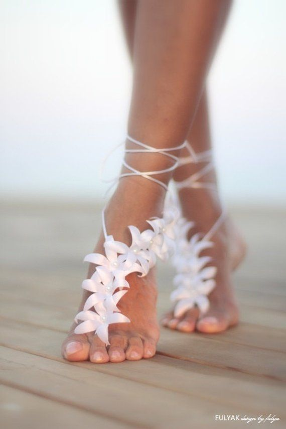 Autumn flowers barefoot sandal, beach wedding barefoot sandal,nude shoes,barefoot sandals