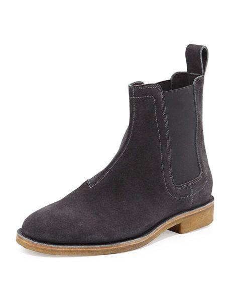 6a2b435c8a8 BOTTEGA VENETA Aussie Suede Chelsea Boot, Grey. #bottegaveneta ...