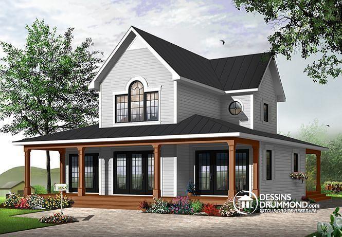 W3511 - Maison de style transitionnel, chalet 4 saisons, 3 à 4 - liste materiaux construction maison