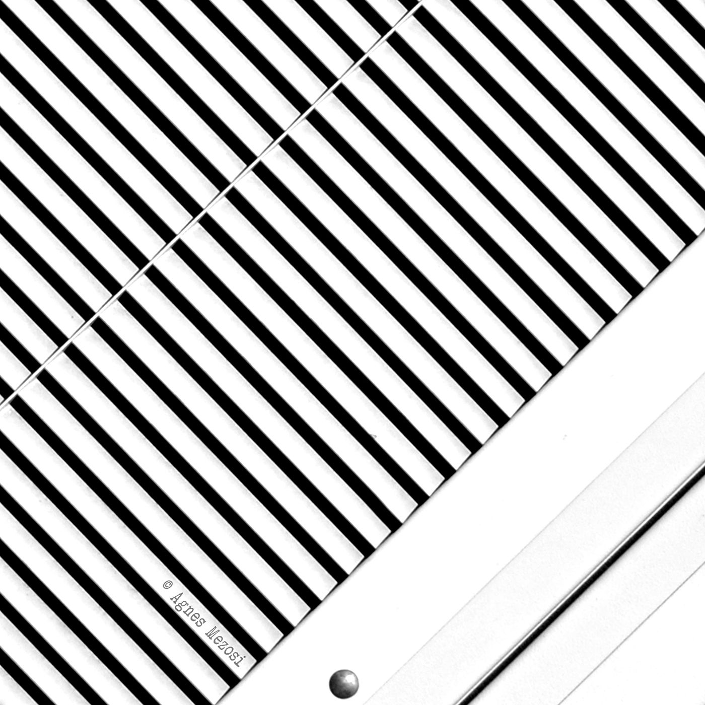Thick Black And White Striped Wallpaper