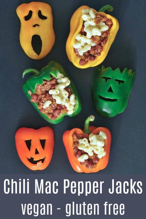 72 Spooky Good Halloween Potluck Recipes To Feed A Crowd In 2020 Halloween Stuffed Peppers Halloween Food Dinner Vegan Halloween Food