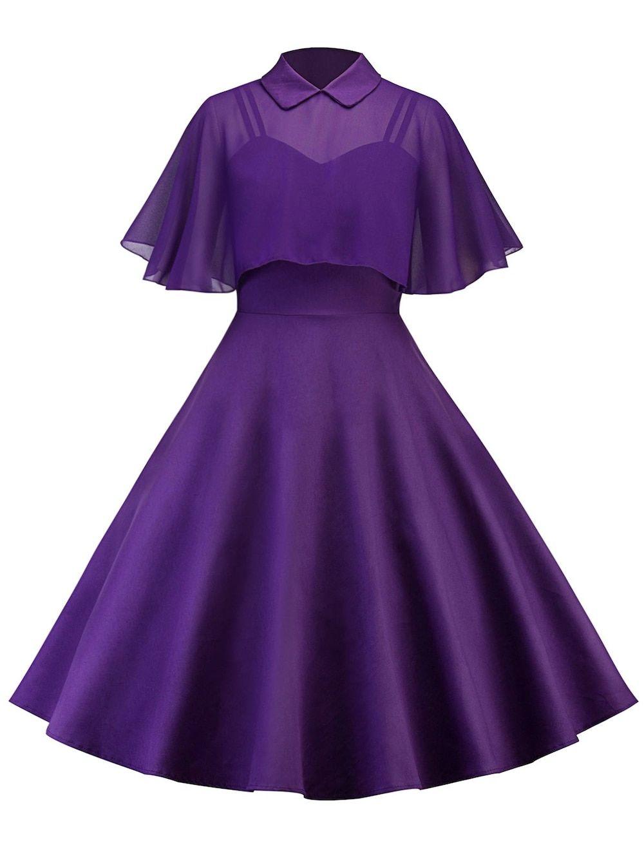 Vintage pin up dress with sheer mesh cape satın alınacak şeyler