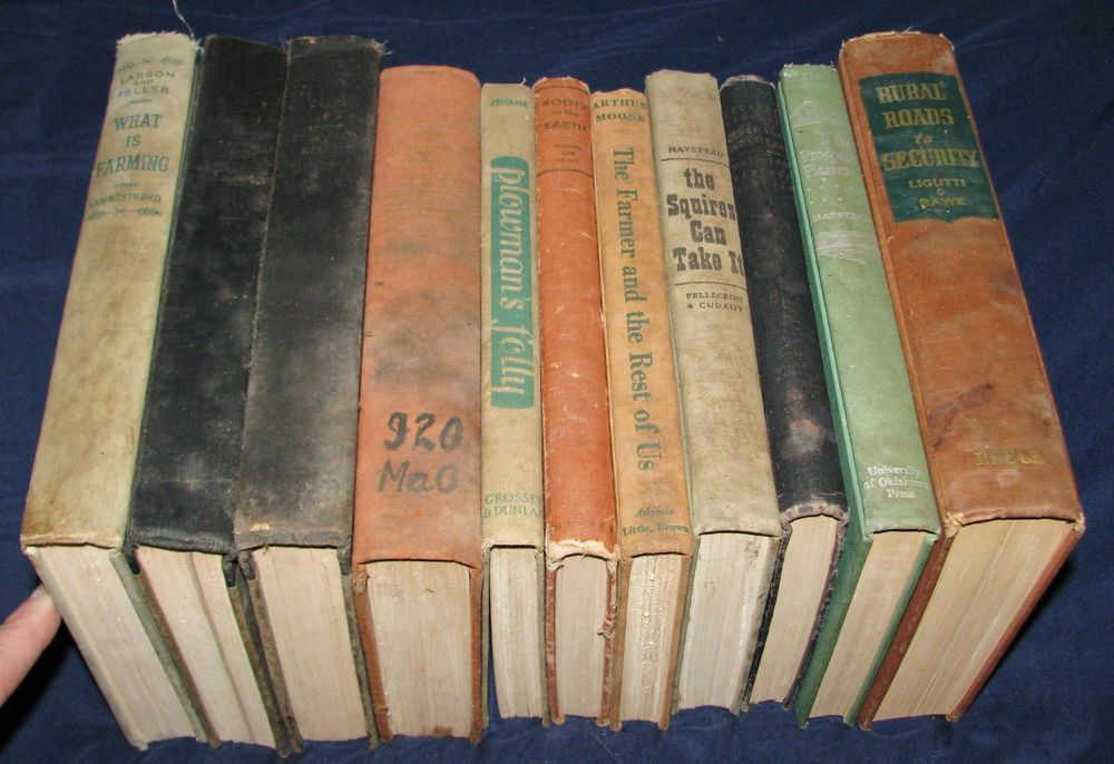 Vintage 1940's Farming Books ~ Agriculture~ Farmer~ Roots in the Earth ~ Plowman