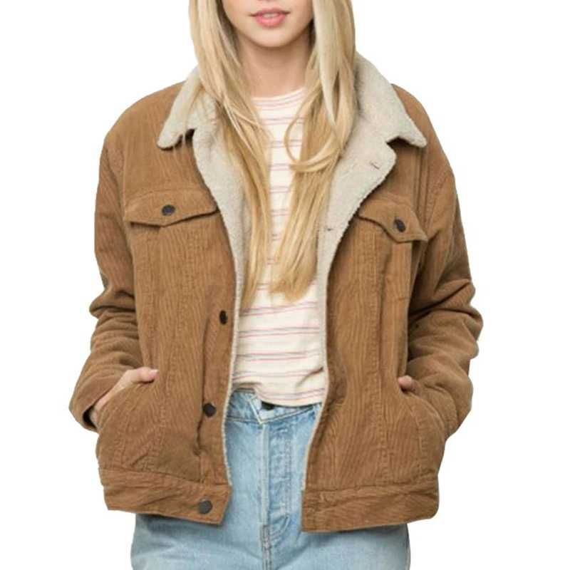 Fur Fleece Lined Shearling Corduroy Trucker Jacket In 2018 Faux