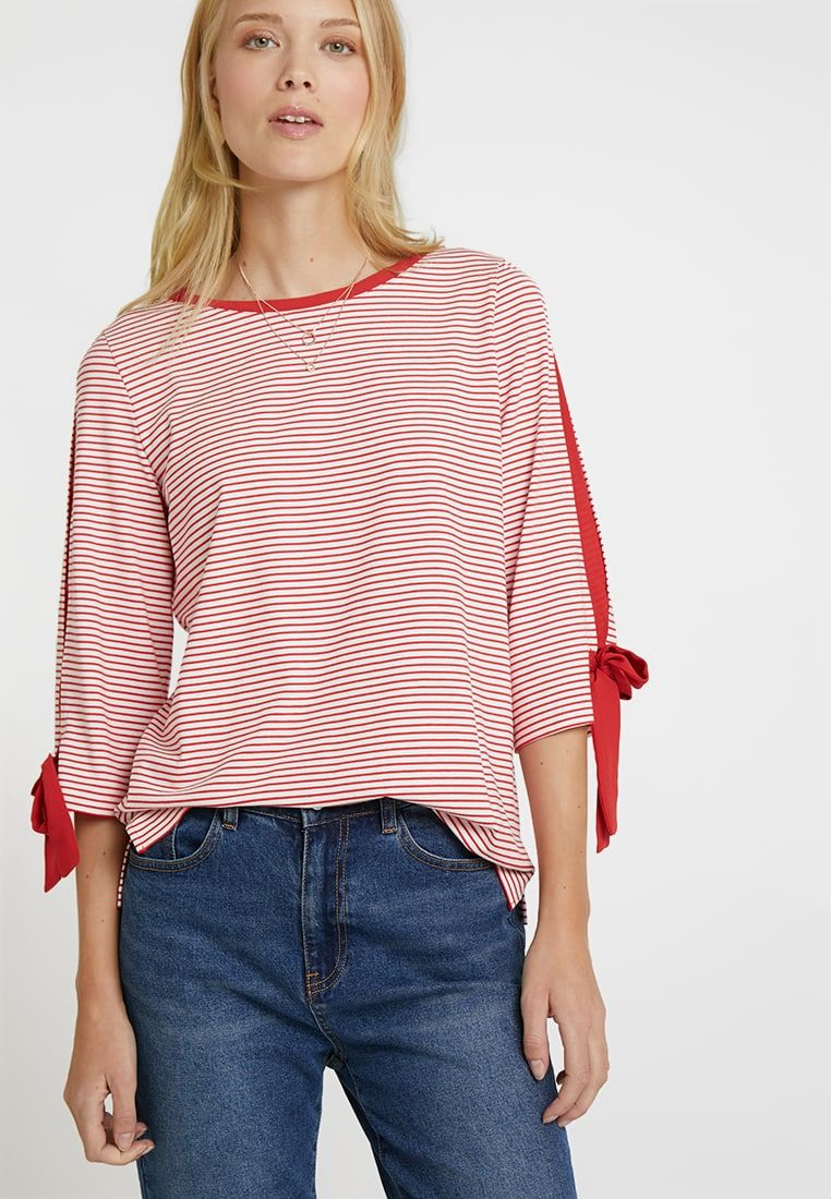 6c8b924003e Long sleeved top - tomato/offwhite @ Zalando.co.uk 🛒 in 2019 ...