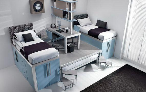 Lits superposés modernes pour les chambres d adolescents