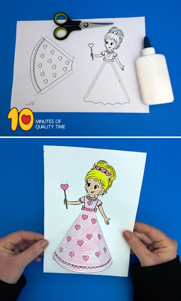 Valentines Day Princess Craft
