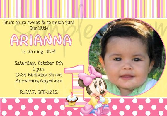 Minnie Mouse 1st Birthday Invitation By LoveLifeInvites On Etsy