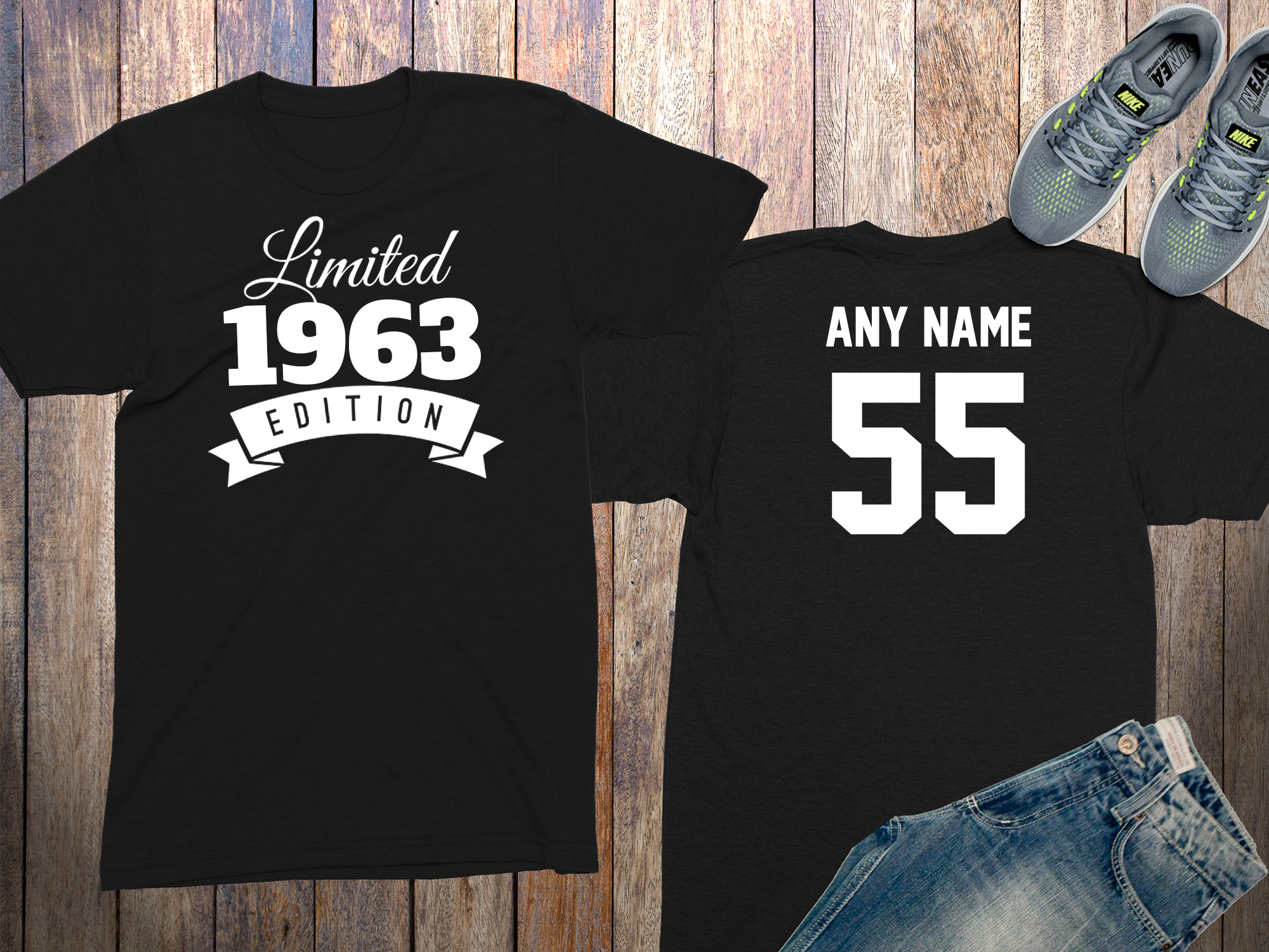 55 Year Old Personalized 1963 Limited Edition Birthday Shirt